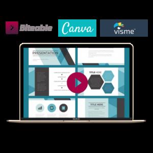 [PAKIET NAGRAŃ] Twórz prezentacje w Canva, Visme i Biteable